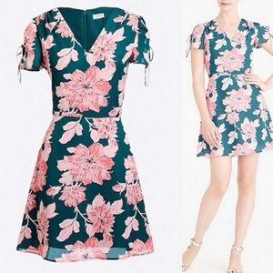 J. Crew Mercantile Floral Short Sleeve Dress
